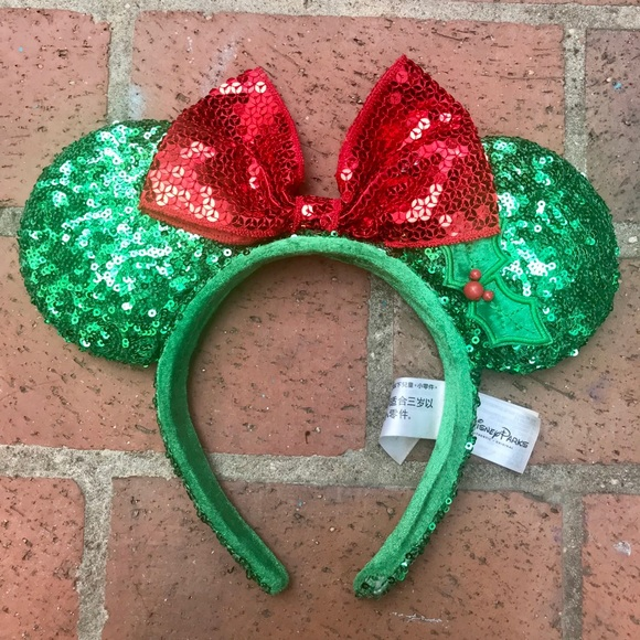 b24f930379af9 Disney Accessories - Disney Parks Disneyland Christmas Ears (2016)
